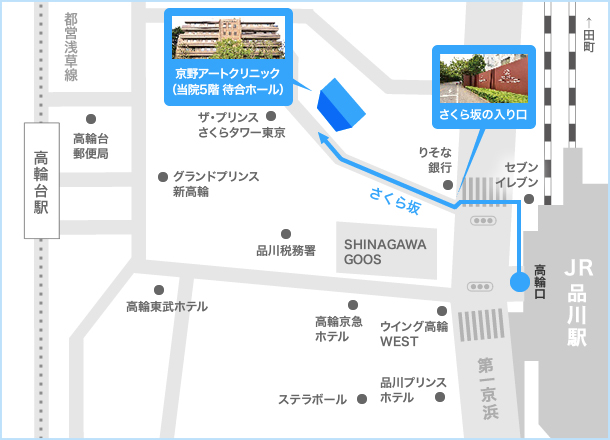 TKP品川カンファレンスセンターANNE地図